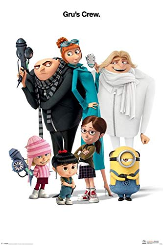 Pyramid International Despicable Me 3 Grus Crew Minions Poster 24x36 Inch ()
