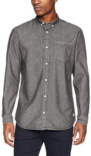 Jack & Jones Jornew Erik Shirt LS Camisa Vaquera, Gris (Grey ...