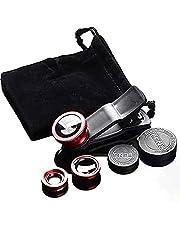 4 in 1 Multifunctional Phone Lens Kit Aluminum Alloy Macro Wide Angle Lens Transform Professional Phone Camera
