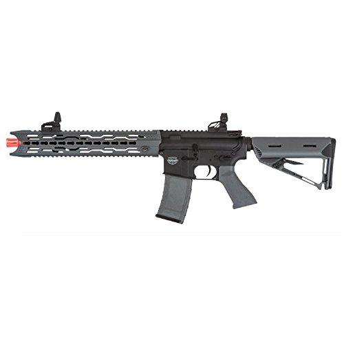 Valken Tactical AEG V2.0 TRG Battle Machine Airsoft Rifle, Black/Gray, Large