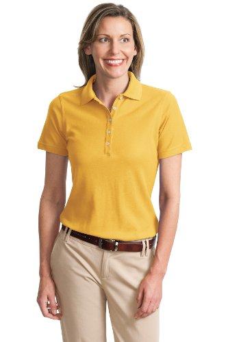 Port Authority Ladies Cotton Pique Knit Sport Shirt, 3XL, Maize Yellow