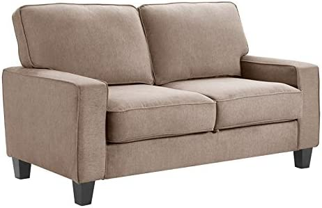 "Serta Palisades 61"" Track Arm Fabric Loveseat"