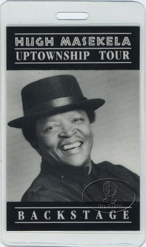 Hugh Masakela 1989 Laminated Backstage Pass