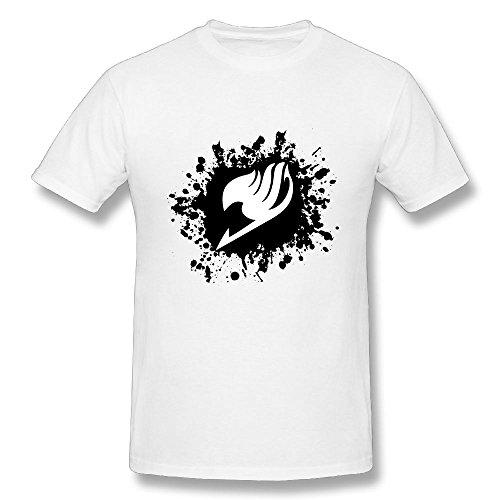 TisEEaZs Mens Tshirt-Cool Fairy Tail Logo White XL