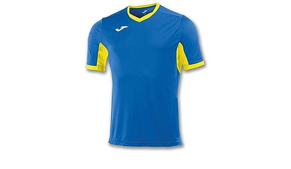 Amazon.com : Joma Teamwear T-Shirt Champion IV Short Sleeves Royal-Yellow Uniforms Camisetas : Sports & Outdoors