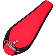 LJ&L Outdoor duck down sleeping bags, outdoor single autumn and winter can be spliced Mummy-type ultra-light thick sleeping bags, ultra-light compact bags and compressed bags