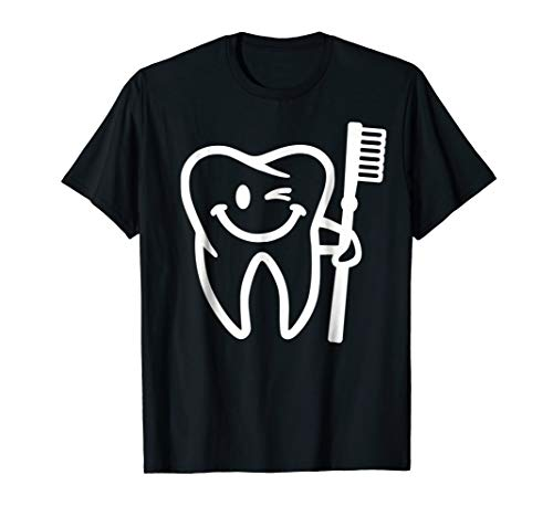 Smiling tooth with toothbrush T-Shirt ()