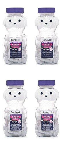 (4 PACK) - Sambucol Black Elderberry Teddies Vitamins For Kids | 60s | 4 PACK - SUPER SAVER - SAVE MONEY by PharmaCare Europe Ltd