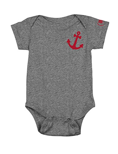 Nickelodeon Baby Infant (Spongebob) Red Anchor Onesie, Charcoal Snow, 6-12 Months -