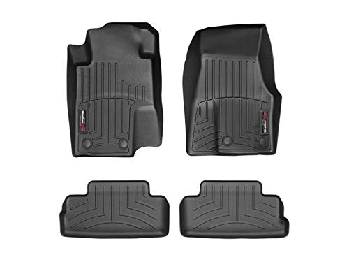 WeatherTech Custom Fit FloorLiner for Ford Mustang -1st & 2nd Row (Black) (2007 Mustang Weather Tech)