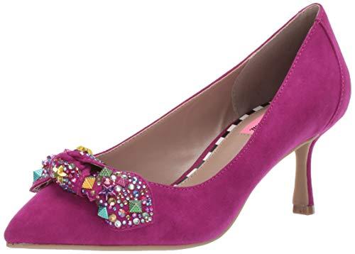 Betsey Johnson Women's AXLE Heeled Sandal, Magenta, 7.5 M -