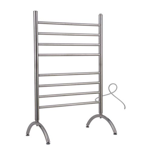 Warmly Yours Warmlyyours Towel Warmer Barcelona Free Standing 8-Bar Brushed Stainless, Solid by WarmlyYours