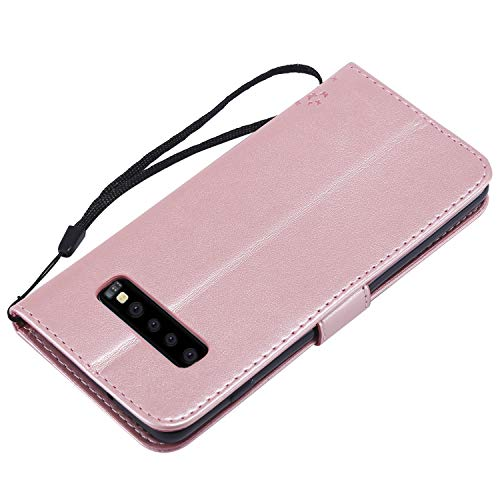 NOMO Galaxy S10 Case,Samsung S10 Wallet Case,Galaxy S10 Flip Case PU Leather Emboss Tree Cat Flowers Folio Magnetic Kickstand Cover with Card Slots for Samsung Galaxy S10 Rose Gold by NOMO (Image #5)