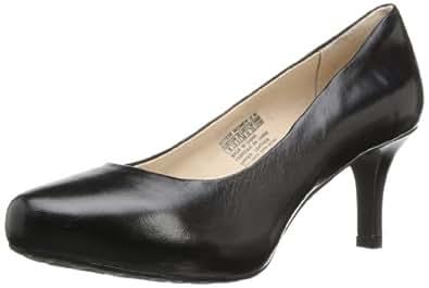 ROCKPORT Women's Seven to 7 Platform Pump,Pebbled Leather Black,5 M US