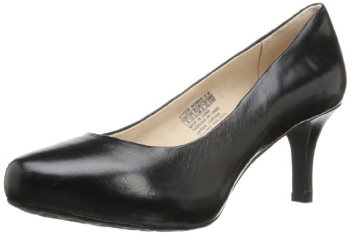 Rockport Womens Seven to 7 Pump Pebbled leather Black