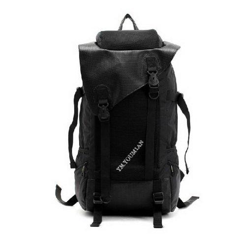 Laptop Backpack Black Large Capacity Travel Backpack Nylon B