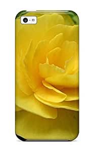 Tpu Phone Case With Fashionable Look For Iphone 5c - Yellow Flowers