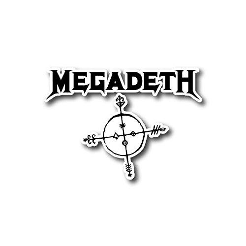 Megadeth Rock - Megadeth Sticker Rock Band Decal for Car Window, Bumper, Laptop, Skateboard, Wall, ETC. (6