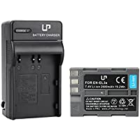 EN-EL3e Battery and Charger for Nikon | Works with Nikon D50,D70,D70s,D80,D90,D100,D200,D300,D300s,D700 Cameras | Replaces Nikon EN-EL3e Battery and MH-18a Battery Charger
