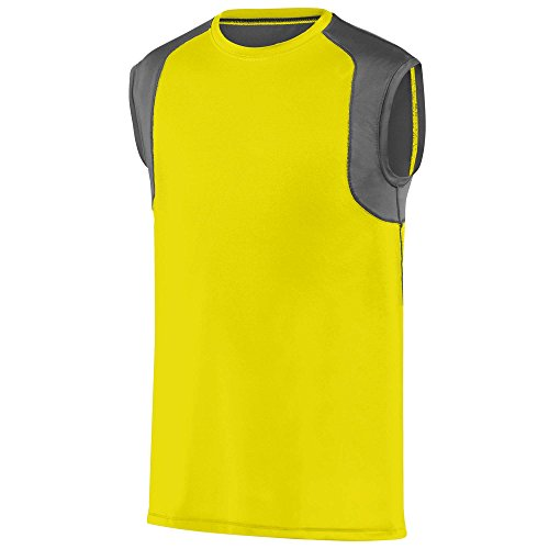 Augusta Sportwear - Camiseta de tirantes - para mujer POWER YELLOW/GRAPHITE