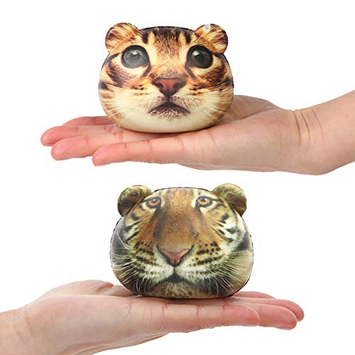HYBEADS-CO.,LTD 2Pcs Squishy Toys Slow Rising Squishies Toy Cats Head Tiger Head Squishies Kawaii Squishies Slow Rising Squeeze Soft Novelty Toy Stress Relief Toys Party Favors for Kids ()