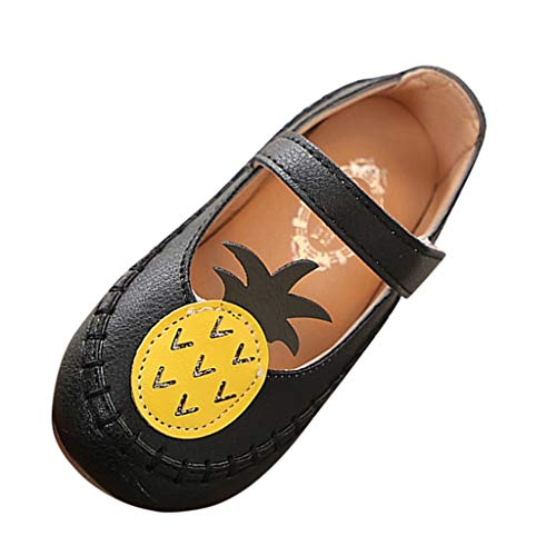iYBUIA Fashion Cute Pineapple Fruit Artificial Leather Sport Casual Shoes Cute Hollow Beach Sandals Casual Shoes Black