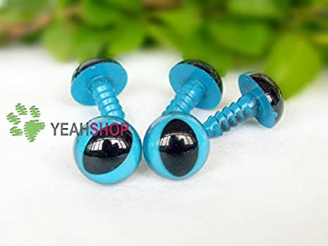 20 Pairs 12mm Safety Eyes Plastic Eyes Plastic Craft Safety Eyes for Cat//Stuffed Doll Animal Amigurumi DIY Accessories Golden