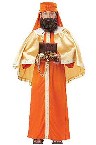 (Gaspar, Wise Man (Three Kings) - Child Costume Orange/Gold )