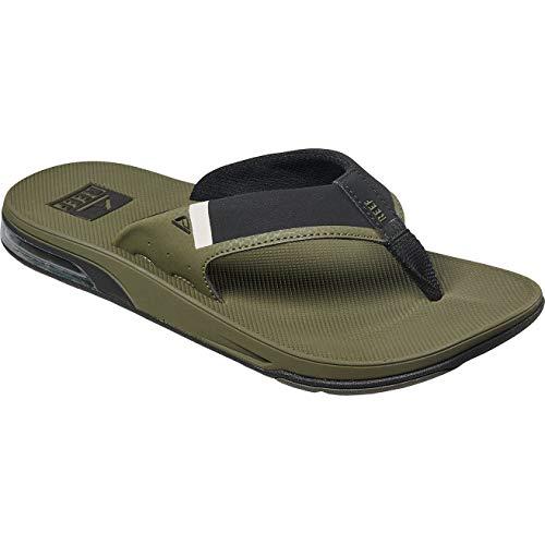 (Reef Men's Fanning Low Sandals, Olive, 12 M)