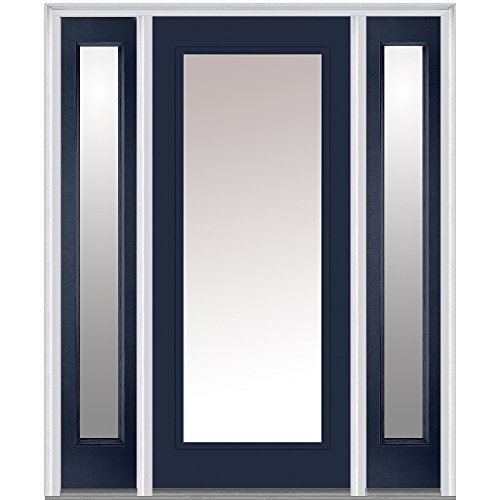 National Door Company Z011720L Fiberglass Smooth Naval, Left Hand In-swing, Prehung Front Door, Full Lite, 36