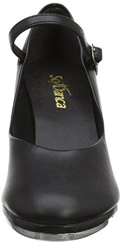 Ta57 So De Danca Femme Chaussures black Claquettes Noir C56q61