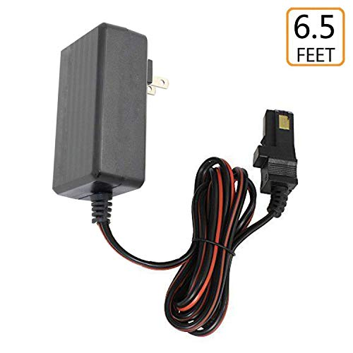 (guy-tech) 12 Volt Battery Charger for Power Wheels B0155 Fire Rescue Jeep, 6.5 Feet, LED ()