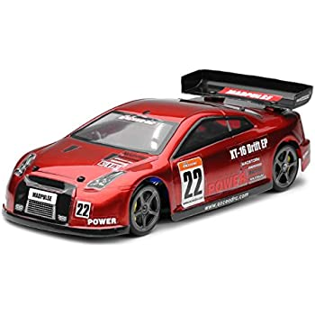 RC Remote Control Radio Exceed RC 1/18 Mad Pulse Brushless Drift Car Ready to Run (Red)