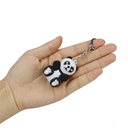 Clearance Sale!UMFun Cute Cartoon Black Bat/Panda/Dolphin/Pig With LED Light And Sound Keyfob Kids Toy Gift (Panda)]()