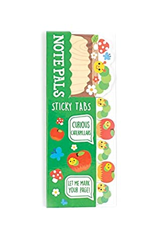OOLY is now newly OOLY, Note Pals Sticky Tabs, Curious Caterpillars (121-006) - Star Shaped Sticky Notes