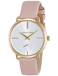 Michael Kors Women's 'Portia' Quartz Stainless Steel and Leather Casual Watch, Color:Pink (Model: MK2659)