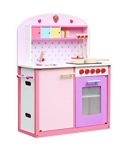 Deluxe Wooden Kitchen Toy Pretend Cooking Kids children r...
