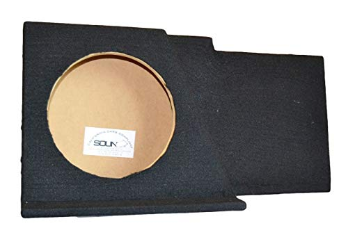SoundBox Chevy Silverado/GMC Sierra Ext Extended Cab Single 12'' Subwoofer Enclosure Sub Box 2007-2013