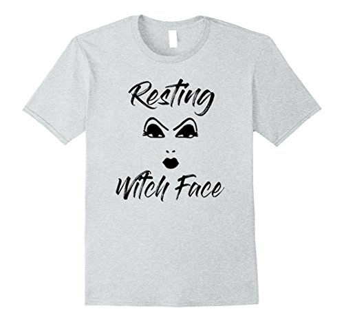 Mens Resting Witch Face Funny Halloween T-Shirt XL Heather (Cute Witch)