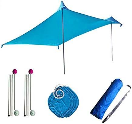 Rubyu Sonnensegel Outdoor Strandmuschel UV Schutz, Leicht 100 Lycra Sichtschutz, Sonnensegel mit 2-4 Personen für Camping, Wandern, Angeln, Strand, Picknick, 210 210 160cm