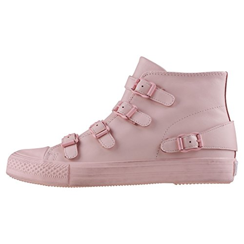 Ash Trainer Black Buckle Shoe Pink Venus SrwzqgS