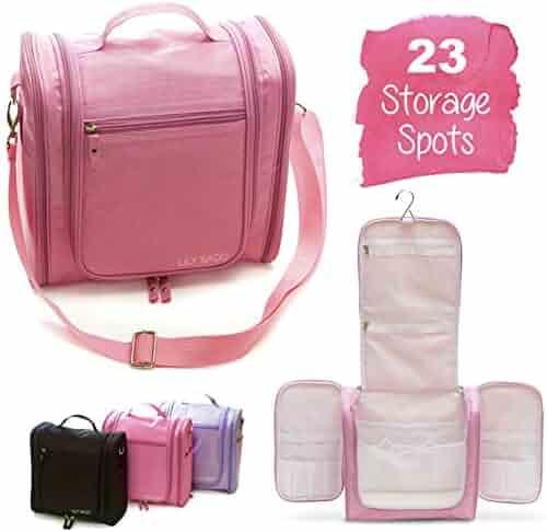 d04973d4c5d2 Large Premium Hanging Travel Toiletry Bag for Women – Waterproof Bathroom    Shower Organizer Kit has