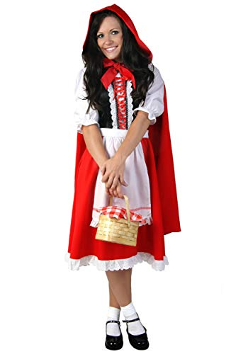 Deluxe Little Red Riding Hood Costume for Women Red Riding Hood Dress and Cape Small ()