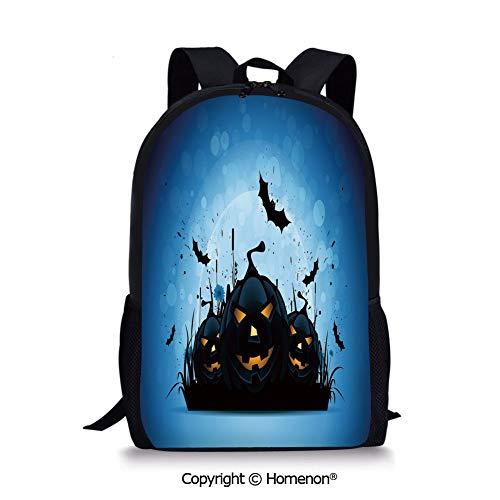 Black Yellow Sky Blue,design Backpack Schoolbag Book Bag Teenagers Daypack(17.3