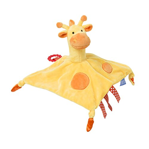 Tommee Tippee 3 in 1 Lovey Soft Security Blanket, Teether and Puppet Machine Washable, Gerry Giraffe, Yellow, 0+ Months