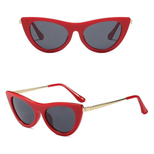 Eyeglasses Gafas Summer Mujeres Red Lentes Shape UV400 Sol Zhhlinyuan Eye Cat Casual de HOwqwaEP