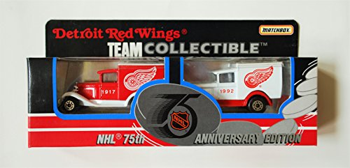 (1992 Matchbox NHL Team Collectible 1:64 Scale Die Cast 2-Piece Truck Set - DETROIT RED WINGS)
