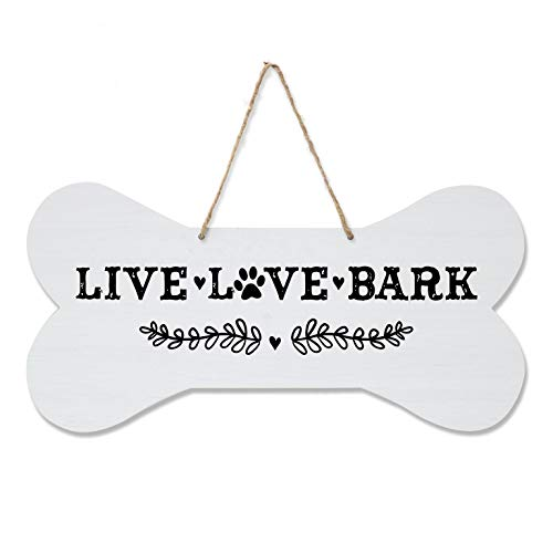 LifeSong Milestones Pet Quote Dog Bone Wall Hanging Sign, Dog Lovers Gifts for Women, Dog Owner Gift for Home Decor, 8