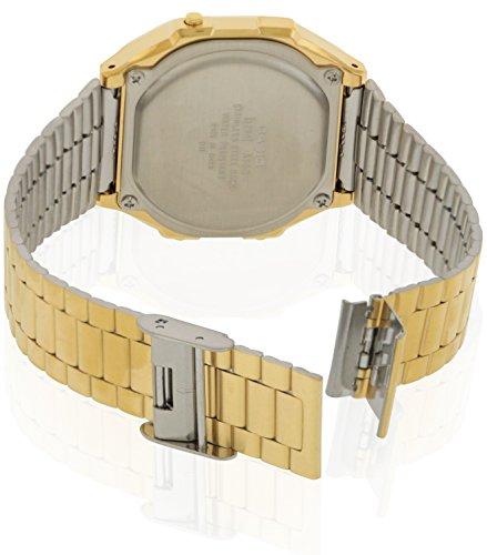 a09fd290860 Amazon.com  Casio A168WG-9 Men s Vintage Gold Metal Band Illuminator  Chronograph Alarm Watch  Watches