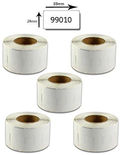 Bubprint 5 Cintas de Etiquetas compatible con Dymo 99010 para ...